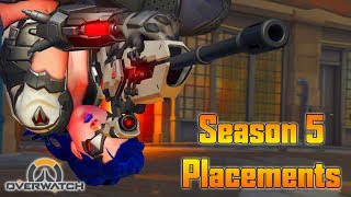 OVERWATCH SEASON 5 PLACEMENT RANKED GAMES! (Overwatch Ranked)