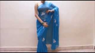 How To Wear Saree To Look Slim Like Actress:Bollywood Saree Blouse Draping Method