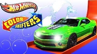 Hot Wheels color shifter cars collection, Awesome new car wash, hot n cold bubbles