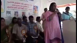 Minnaminunge -After the Trajedy..first time.. (Kalabhavan Mani's Daughter singing his Favorite song)