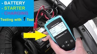 How to Test Your Car Battery, Starter & Charging System with 1 Tool | Topdon Tester