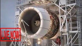 Ultimate huge jumbo Jet engine operated - Heavy equipment jet engine Inside airbus A380 #ARJ