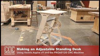Making an Adjustable Standing Desk (Open Design)
