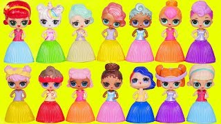 LOL Surprise Dolls Custom Lil Sisters Dress Up in Wrong Heads Dresses   Toy Wave 2 Video Yucky