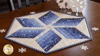 How to Use  the 60º Diamond Ruler to Make a Table Topper  | Shabby Fabrics Tutorials