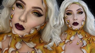 Candycorn Unwrapped Beauty Halloween Makeup Tutorial