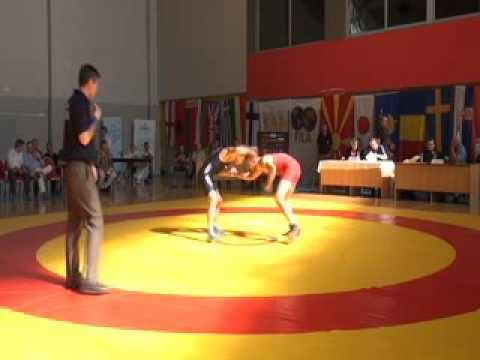 57 kg. Sina Haxhi (ALB) vs Naim Myaki Salim (BUL), XXXX Macedonian Pearl, 04.06.2016 Skopje