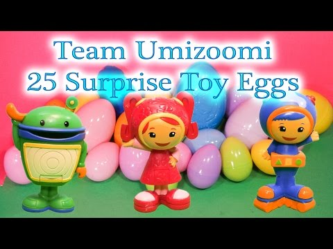 TEAM UMIZOOMI Nickelodeon Team Umizoomi 25 Huge Surprise Eggs Peppa PIg Funny Surprise Video