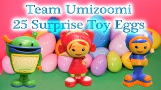 TEAM UMIZOOMI Nickelodeon Team Umizoomi 25 Huge Surprise Eggs + Funny PIg Funny Surprise Video