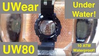 UWear UW80 Super Waterproof GPS Hiking Smartwatch: Unboxing and Review