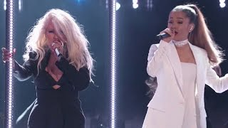 Ariana Grande Performs EPIC Duet With Christina Aguilera On The Voice Season 10 Finale