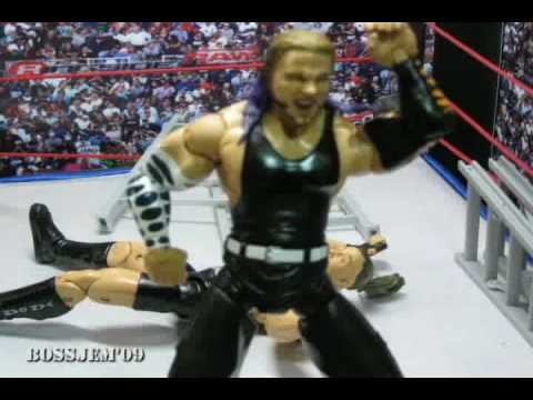 WWE toys in Motion WTM Jeff Hardy vs RVD No DQ match