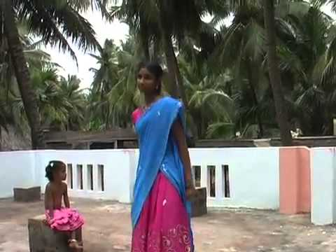 dance by village girl from andhra folk   YouTube