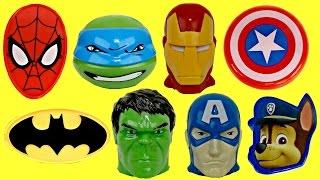 SUPERHERO Avengers Marvel Easter Treat Container Eggs, Basket Iron Bat Spiderman Toy Surprise / TUYC