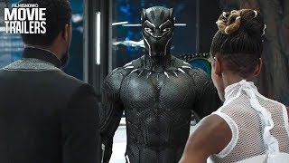 BLACK PANTHER (2018) | International Trailer Reveals New Costume's Abilities