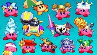 Kirby Battle Royale - All Abilities (DLC Included)