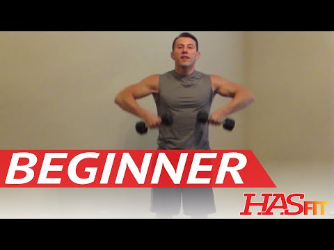 Download 15 Minute Beginner Weight Training - Easy Exercises - HASfit Beginners Workout Routine - Strength