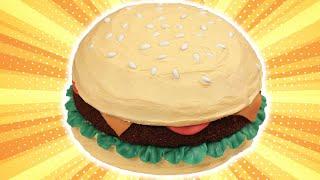 HOW TO MAKE A HAMBURGER CAKE - NERDY NUMMIES