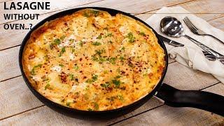 Vegetable Lasagna in Pan Recipe | No-Egg Homemade Lasagne Sheets - CookingShooking