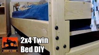 Wooden Twin Bed DIY
