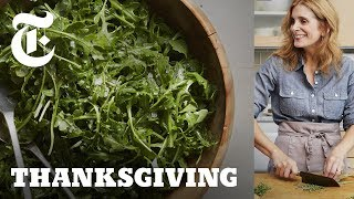 Arugula Salad With Anchovy Dressing | NYT - A Melissa Clark Thanksgiving