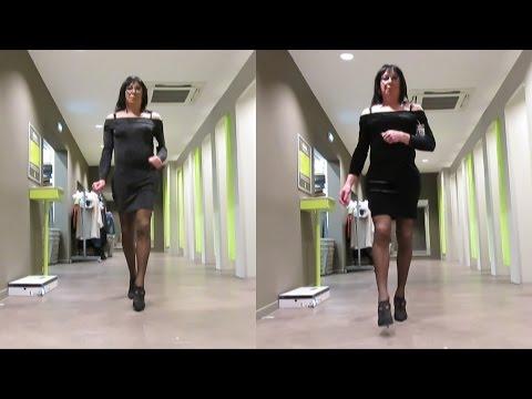 Christmas Shopping Transvestite Crossdresser