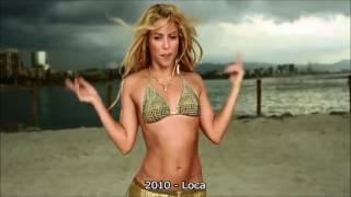 Shakira's belly dance through the years.