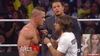 Miz TV 8/12/13 Daniel Bryan Calls John Cena a PARODY Live Commentar