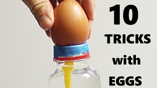 10 AMAZING TRICKS WITH EGGS!