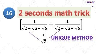 How to use tricks in exam time under difficult circumstances I learn best math tricks