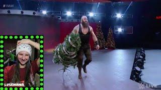 WWE Raw 12/26/16 Braun Strowman Destroys Christmas AGAIN