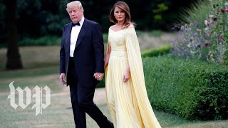 Trump attends gala at Blenheim Palace