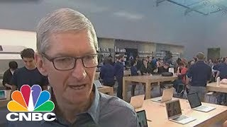 Apple CEO Tim Cook: We're Working Hard To Meet Demand For Apple Watch And iPhone 8 | CNBC