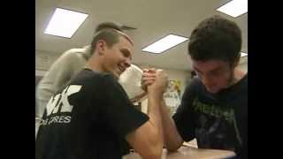 Scrawny Guy beats Tough Guy ARM WRESTLING