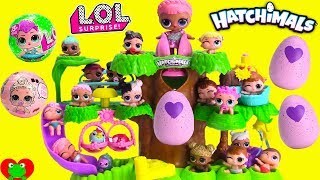 Hatching Hatchimals in Hatchery Nursery with LOL Surprise Dolls Lil Sister