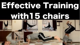 15 Effective breakdance Training with chair freeze for beginner bboy