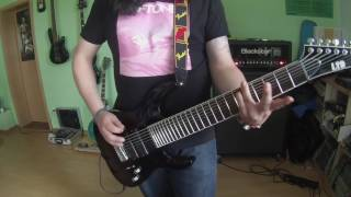 GuggiPlaysGuitar -- DEFTONES - Gore 2016 - doomed user -- 8 string guitar cover