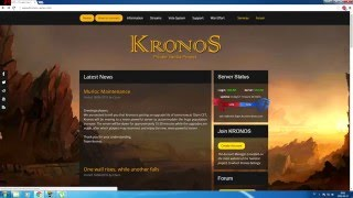 How to download and connect to kronos wow