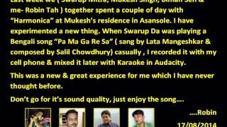 Pa Ma Ga Re Sa on Harmonica by Swarup Mitra....