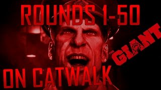 COD Black Ops 3 Zombies: The Giant rounds 1-50 on CATWALK SOLO
