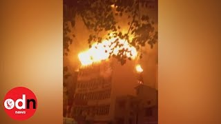Deadly inferno rips through New Delhi hotel