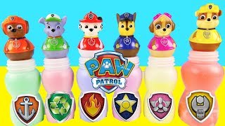 Nick Jr Paw Patrol Pups Slime Bottle Game - Learning Colors Surprises Skye, Chase,| Ellie Sparkles