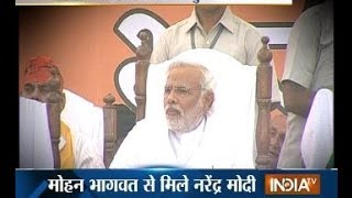 Modi meets RSS chief Mohan Bhagwat