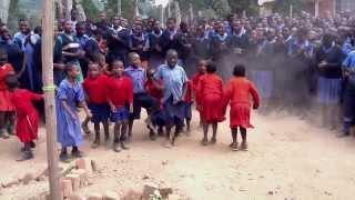 Kindergarteners from New Times Welcome Us with Rukiga Dance in Kishanje, Uganda