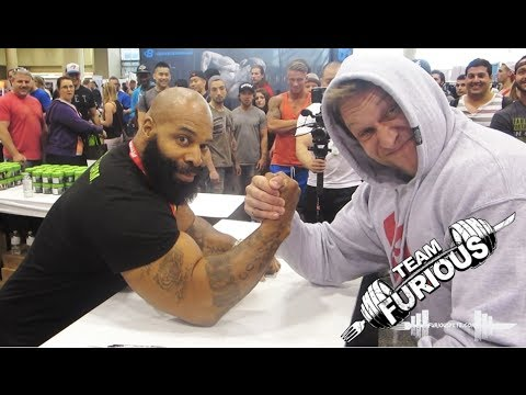 Arm Wrestling vs C.T. Fletcher Furious Pete
