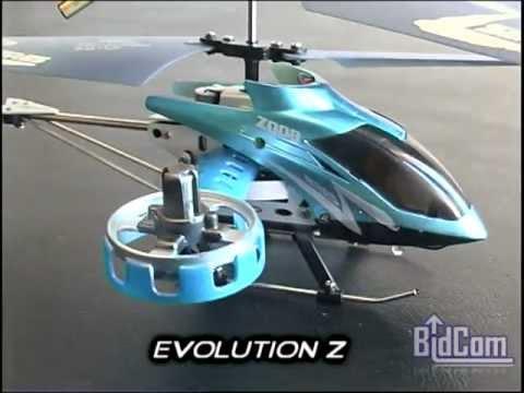 Helicoptero Evolution Z A Radio Control Remoto Rc De Metal Con Giroscopo