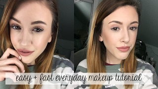 Easy, FAST every day MAKEUP TUTORIAL! ♡ jxmebeauty