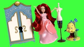 Princess Ariel Mini Wardrobe Doll PlaySet DisneyStore Royal Closet Unboxing by FunToys