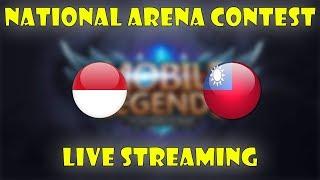 INDONESIA VS TAIWAN ARENA CONTEST MOBILE LEGENDS !