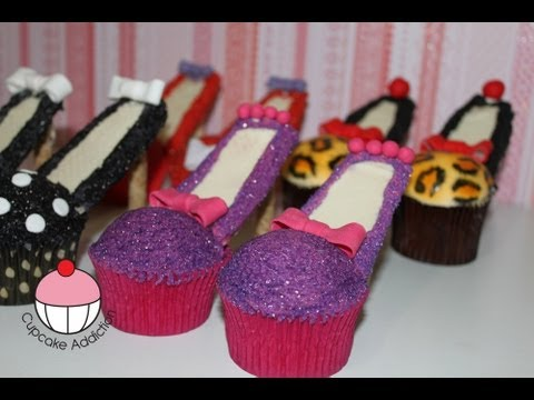 Stiletto Cupcakes Decorate High Heel Shoe Cupcakes A Cupcake Addiction How To Tutorial